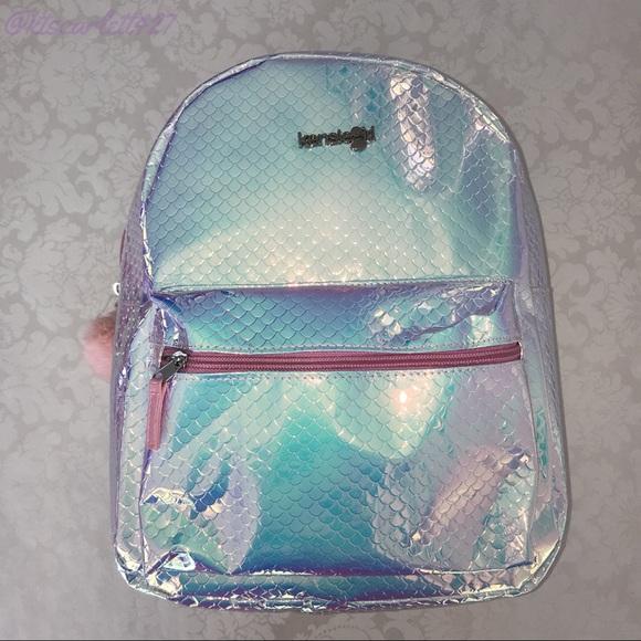 Kensie Girl Bags Iridescent Mermaid Backpack Holographic